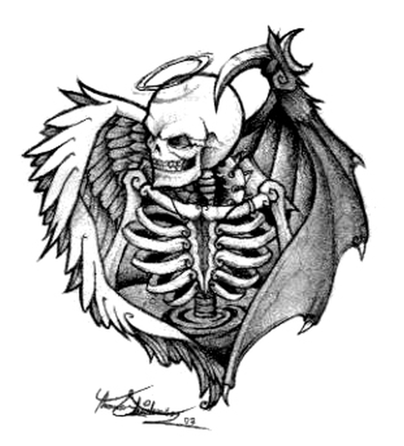 Death angel tattoo sample