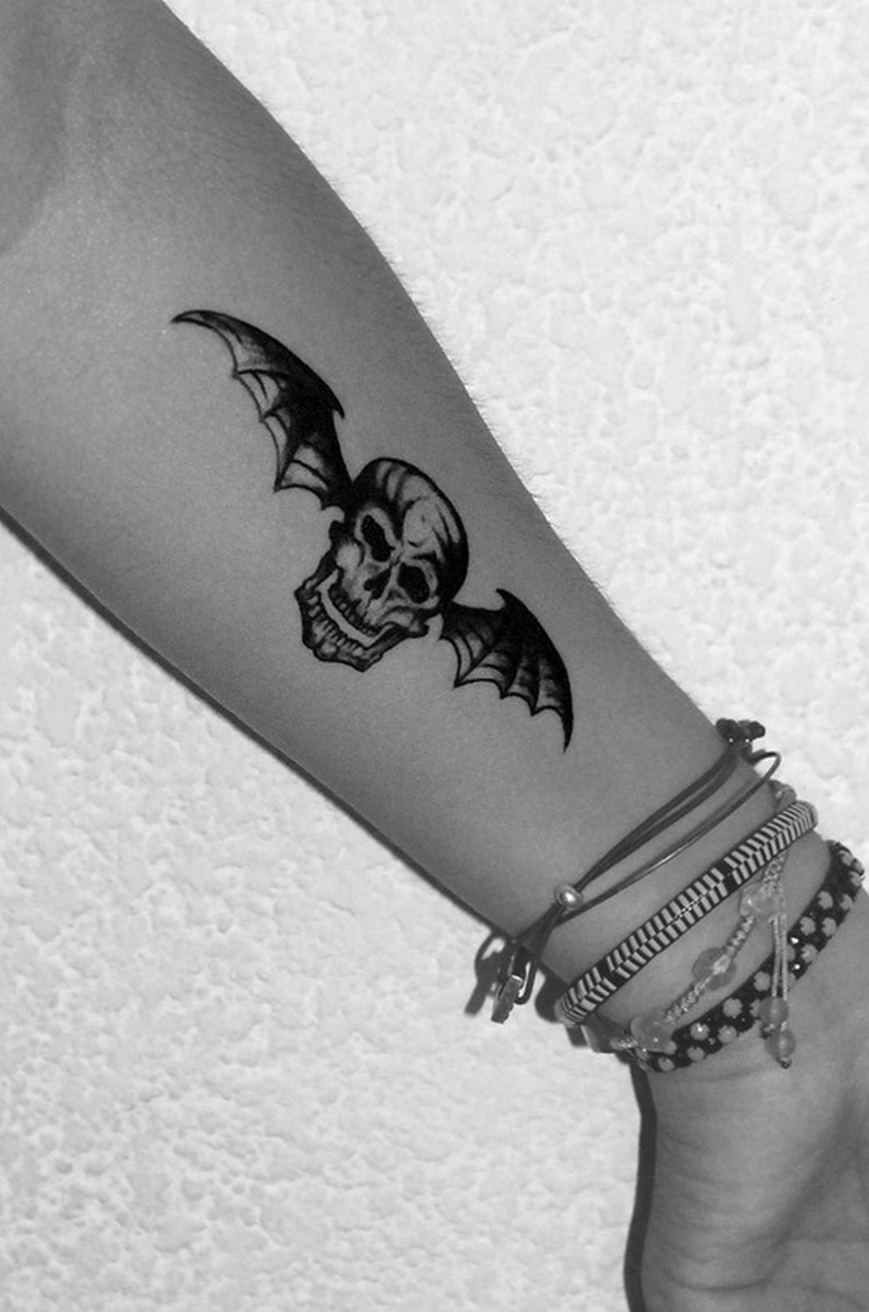 death bat tattoo on forearm tattoos book tattoos designs. Black Bedroom Furniture Sets. Home Design Ideas