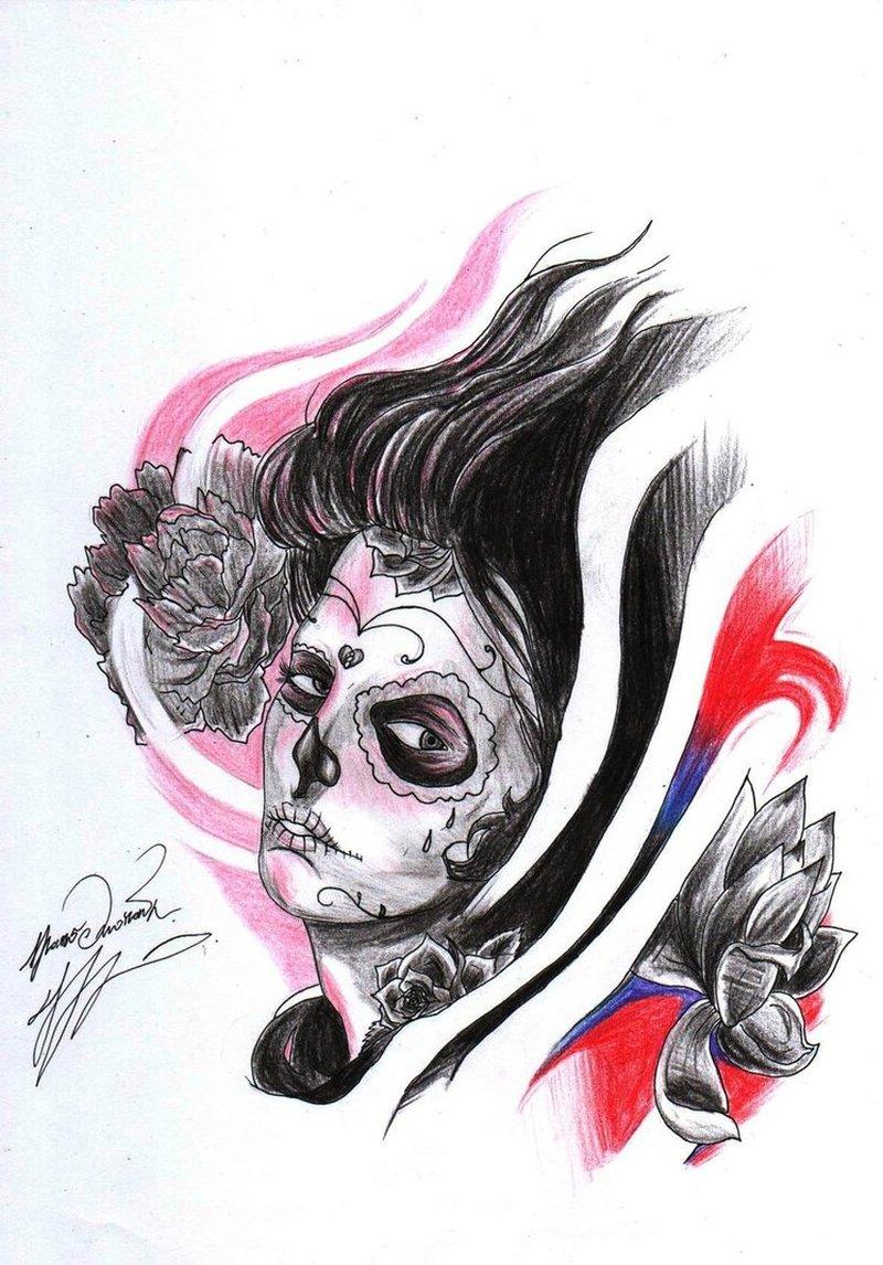 Death girl tattoo sample