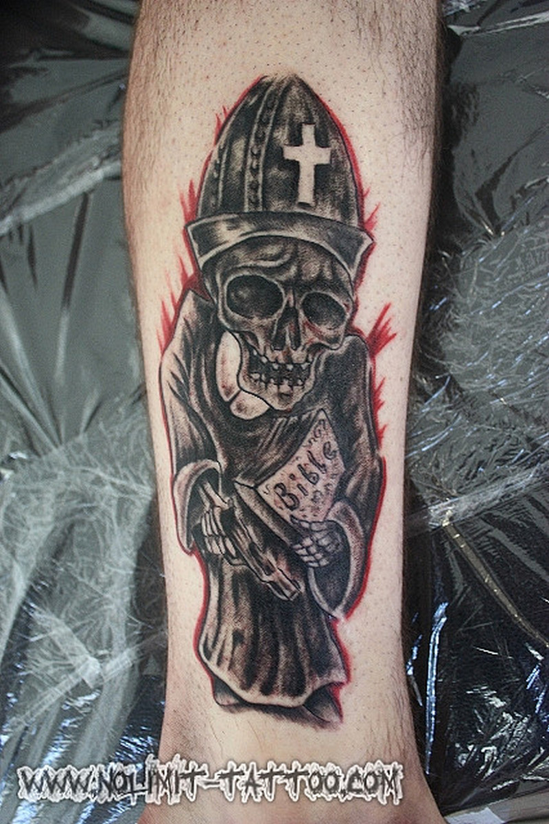 Death skull tattoo design 2