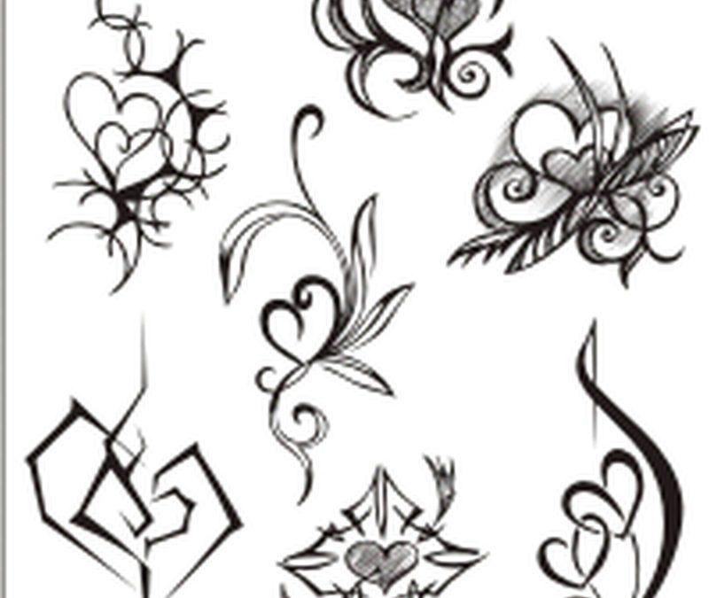 Decorations heart tattoo designs