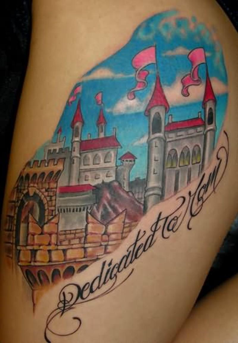 Dedicated fantasy tattoo design
