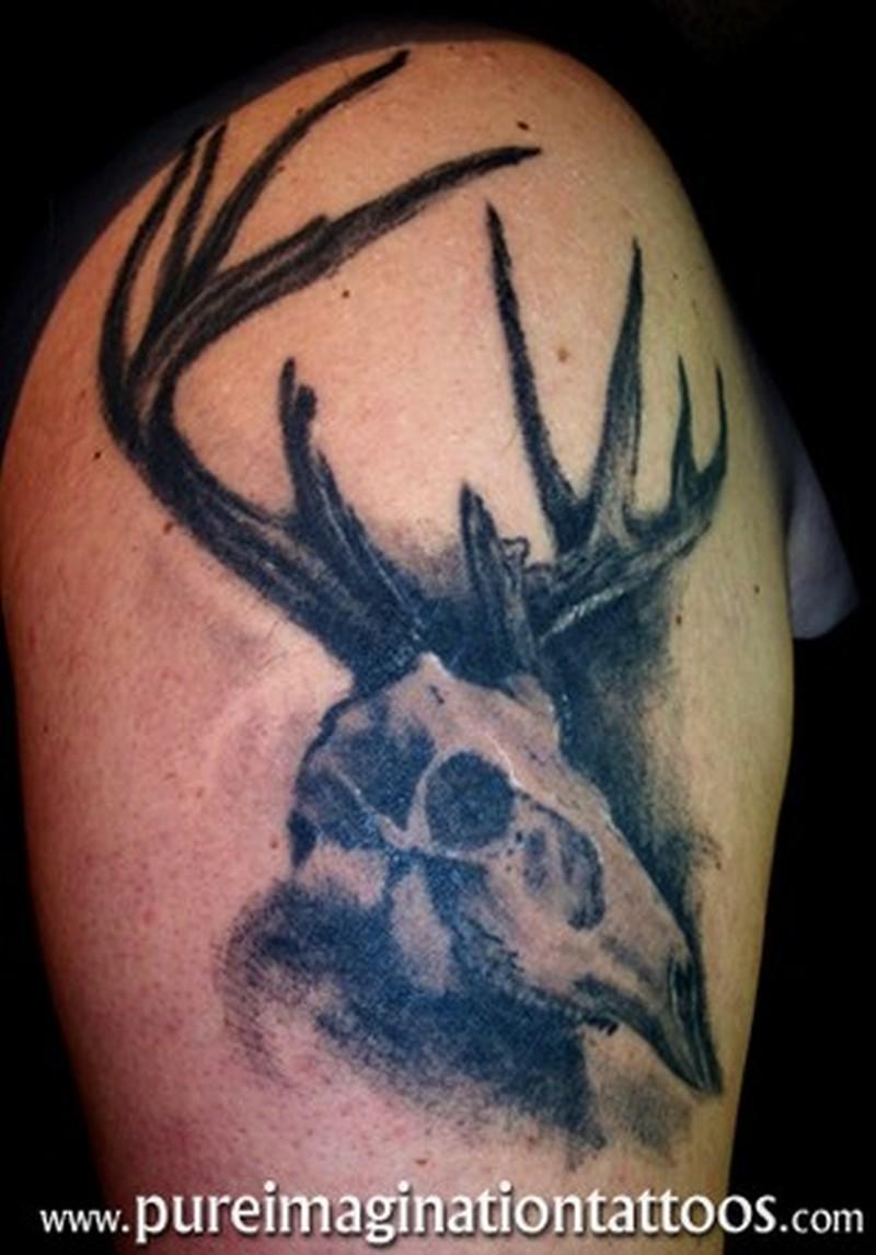 Deer skull tattoo image 3