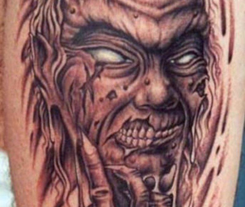 Demon devil monster horror tattoo design