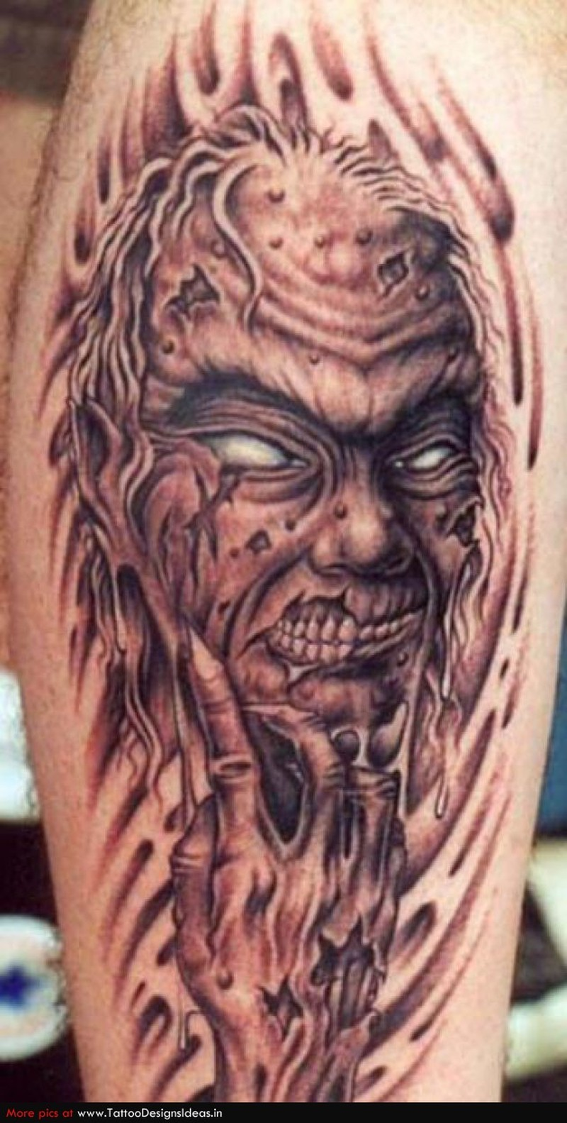 Demon devil monster horror tattoo design