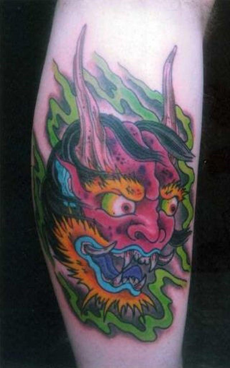 Demon head tattoo