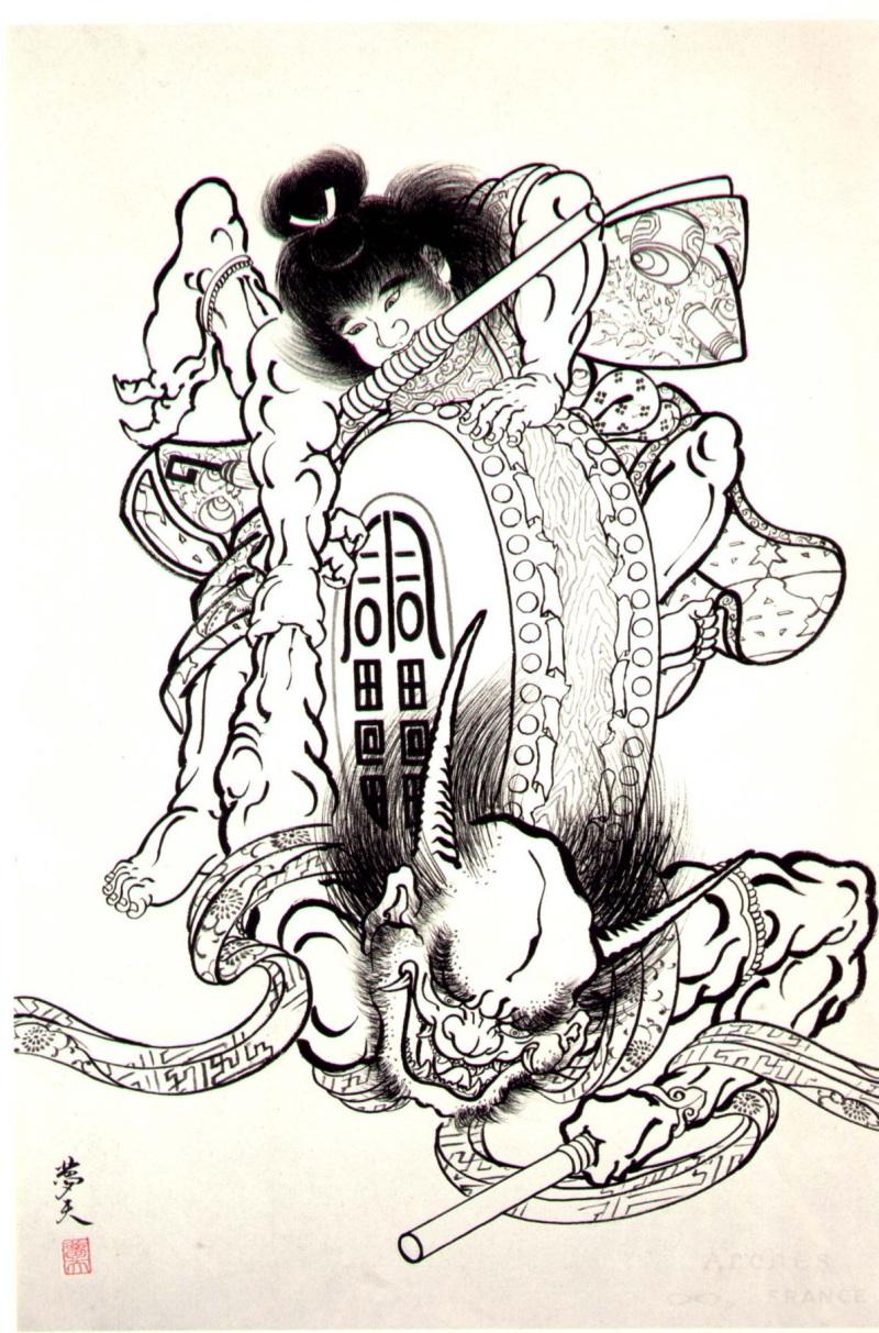 Demons japanese tattoo design
