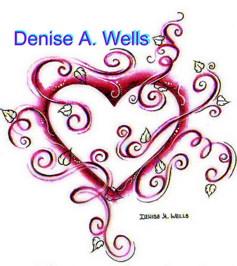 Denise a wells heart tattoo sample