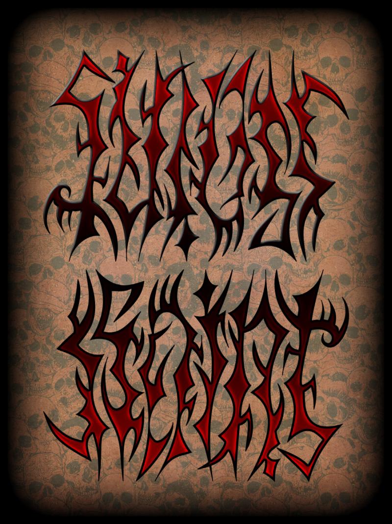 Design art ambigram tattoo