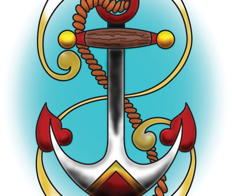 Design for anchor tattoo