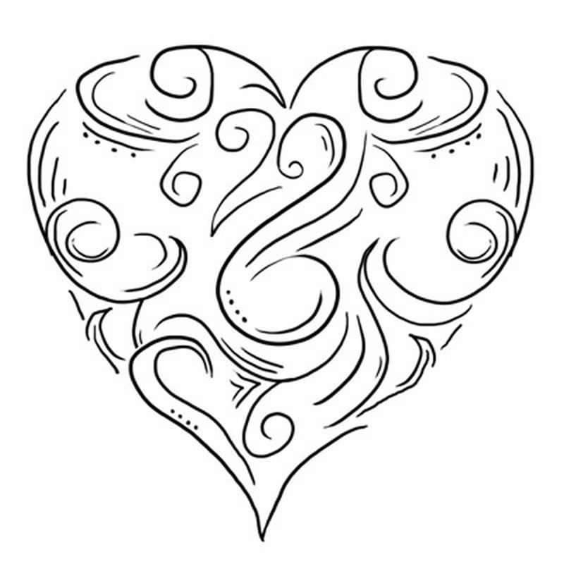 Design of heart tattoo