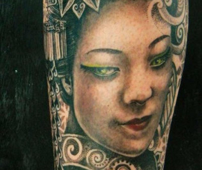 Designer geisha tattoo