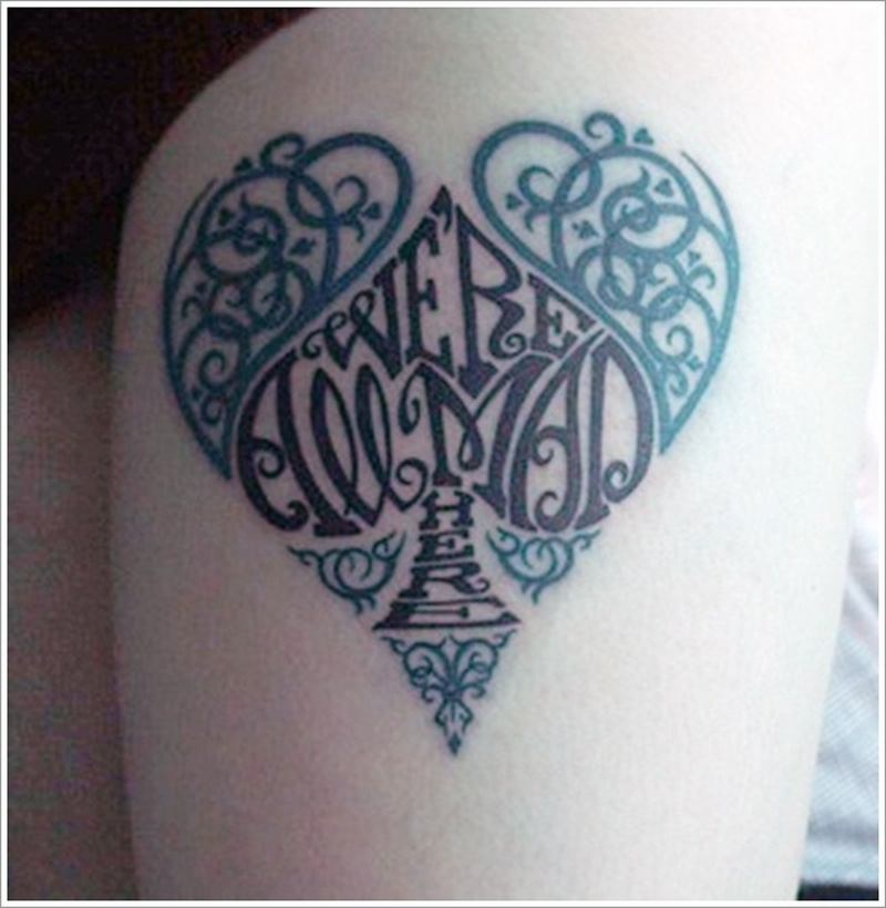 Designer heart tattoo design 2