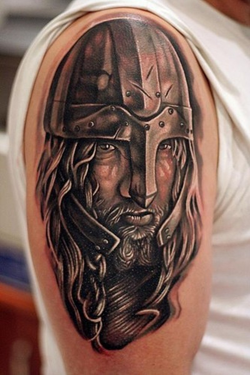 detailed portrait of viking tattoo on half sleeve tattoos book tattoos designs. Black Bedroom Furniture Sets. Home Design Ideas