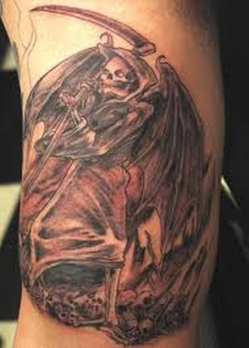 Devil angel tattoo design
