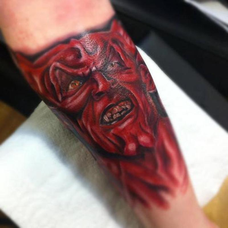 Devil art tattoo