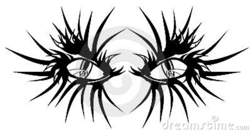 Devil eyes tattoo design