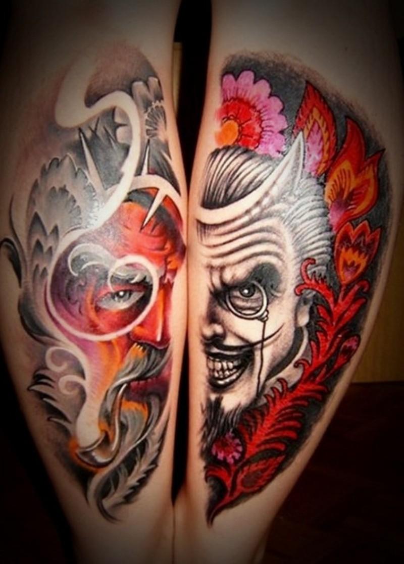 Devil tattoo design for men n women