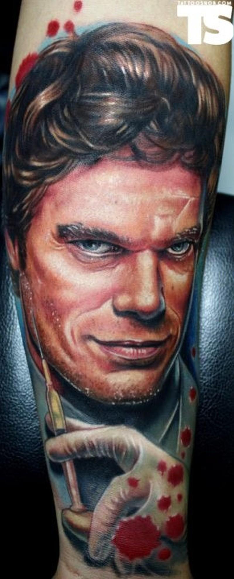 Dexter movie tattoo by paul acker