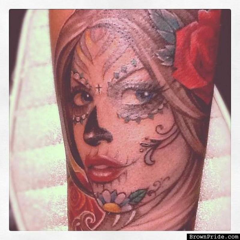 Dia de los muertos girl tattoo picture