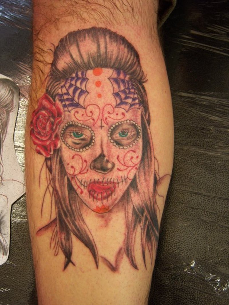 dia de los muertos gypsy woman tattoo tattoos book tattoos designs. Black Bedroom Furniture Sets. Home Design Ideas