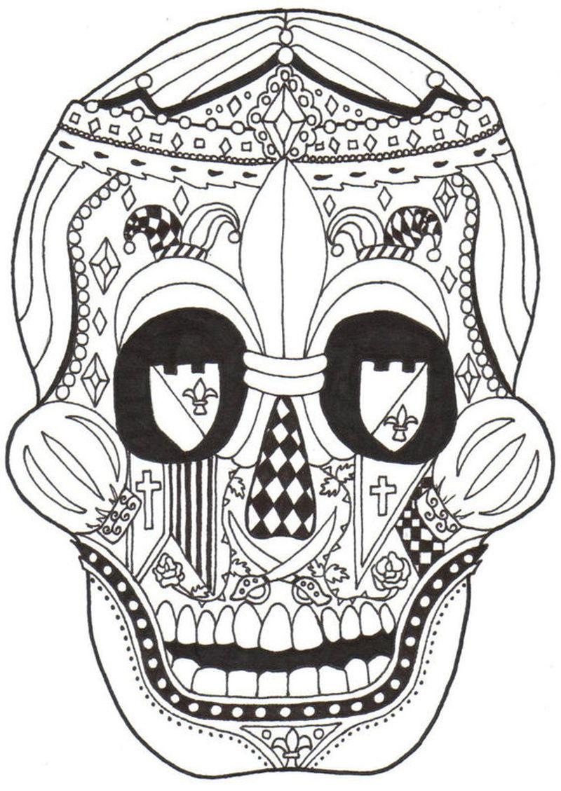 Dia de los muertos skull sample tattoo