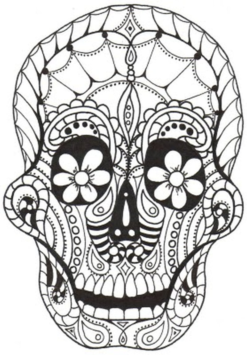 dia de los muertos skull tattoo sample 2 tattoos book tattoos designs. Black Bedroom Furniture Sets. Home Design Ideas