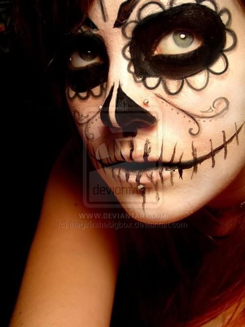 Dia de los muertos tattoo on girl