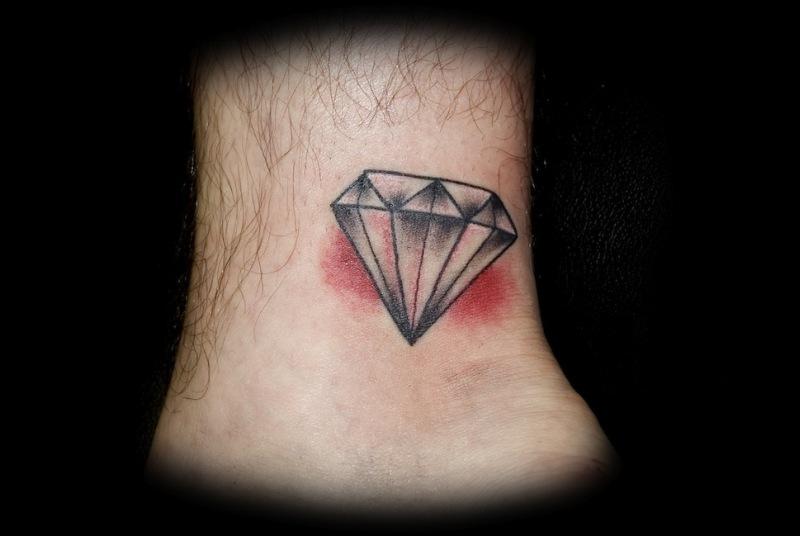 Diamond ankle tattoo design 2
