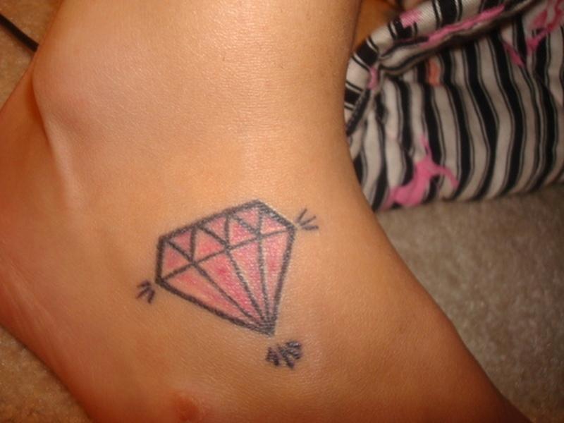 Diamond ankle tattoo design