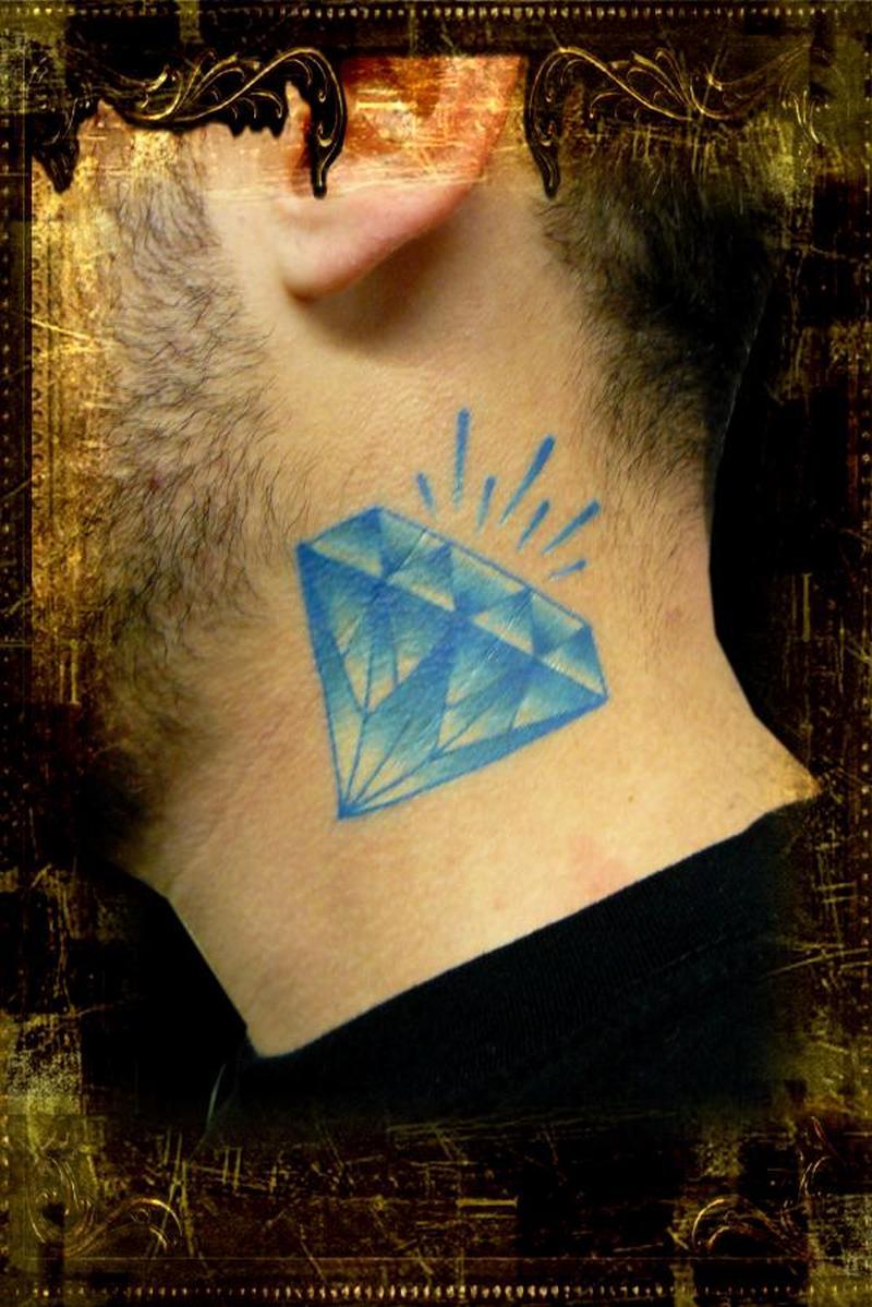 diamond neck tattoo picture tattoos book 65000