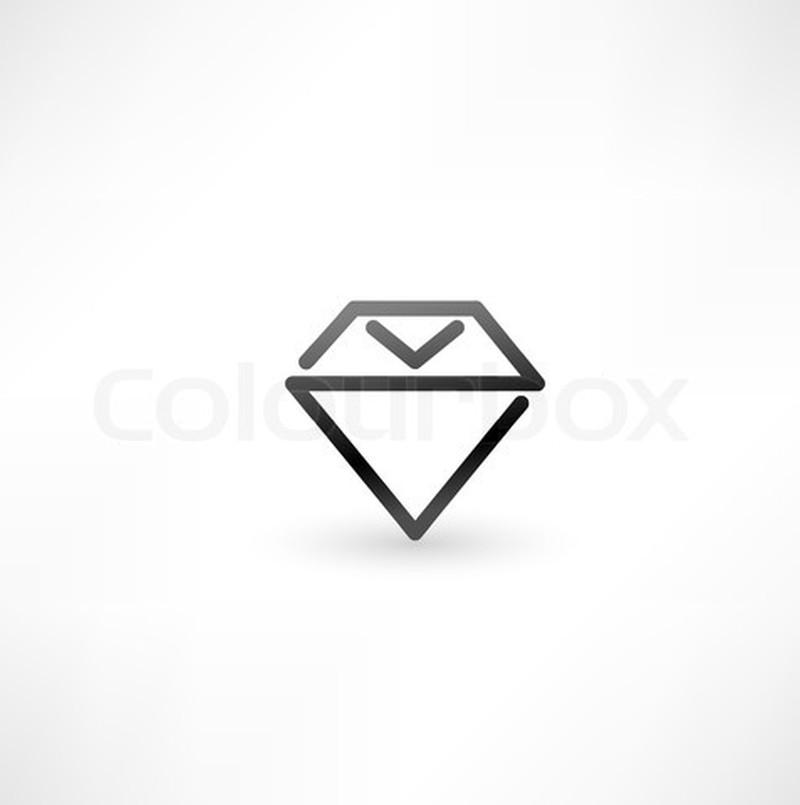 Diamond symbol tattoo design
