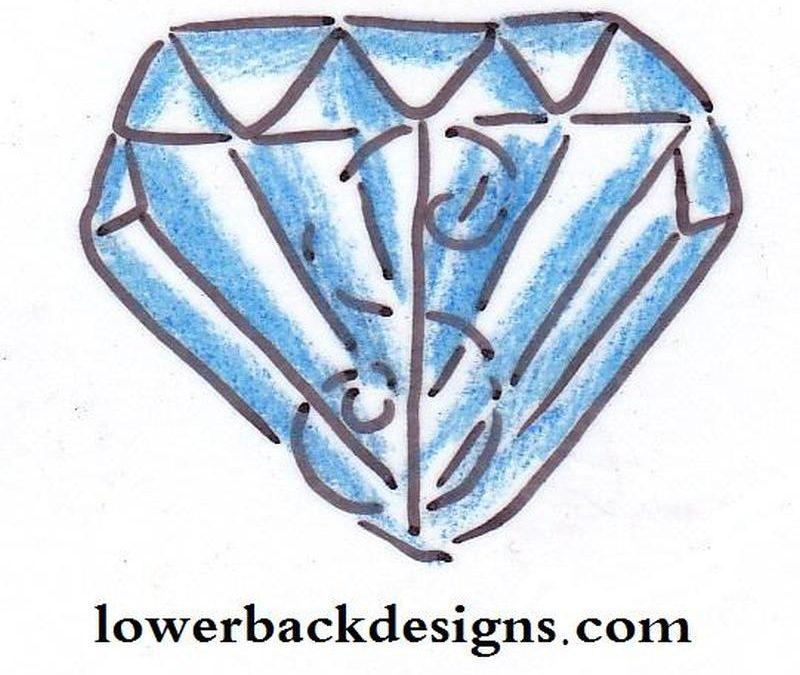 Diamond tattoo design for lower back