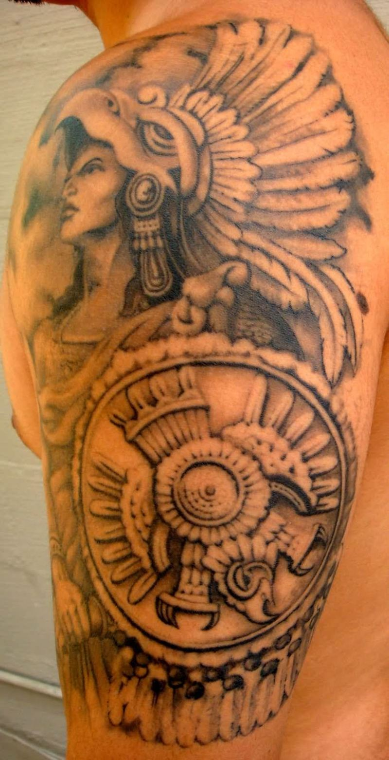 Different aztec tattoo design