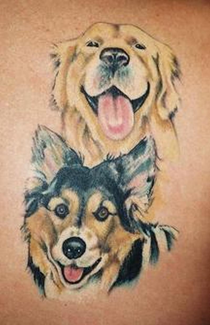 Dog face tattoo designs