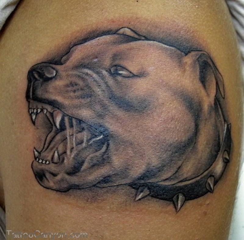 Dog head tattoo design 2