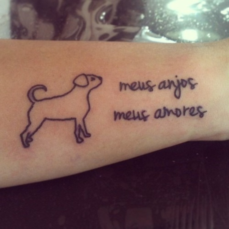 dog outline tattoo on arm tattoos book tattoos designs. Black Bedroom Furniture Sets. Home Design Ideas