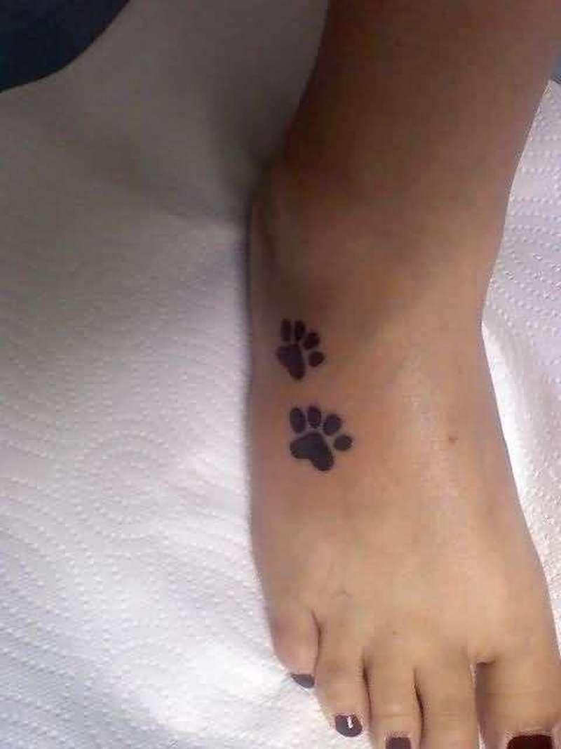 3255d5fdb Dog paw print on foot tattoo - Tattoos Book - 65.000 Tattoos Designs