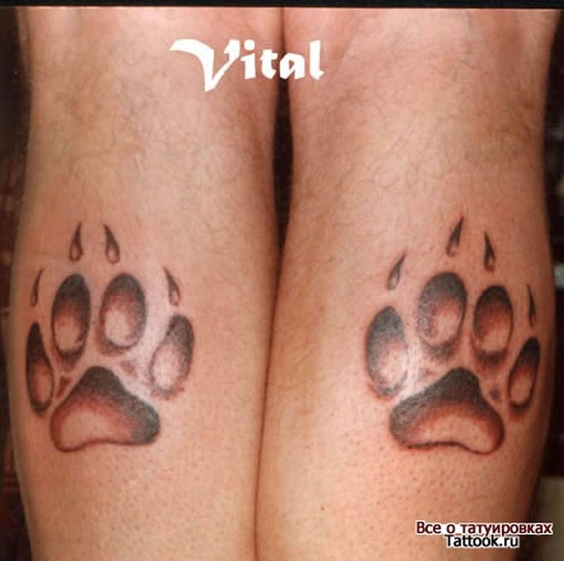183cd2f85 Dog paw prints designs tattoo - Tattoos Book - 65.000 Tattoos Designs