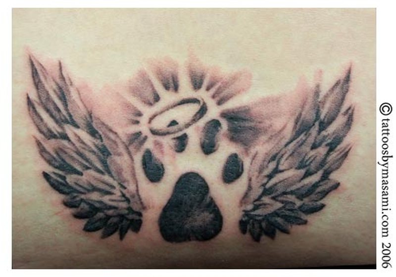 6b4890cb0 Dog paw prints tattoo design - Tattoos Book - 65.000 Tattoos Designs