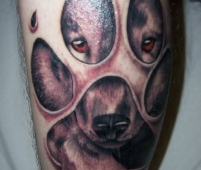 Dog paw tattoo designs