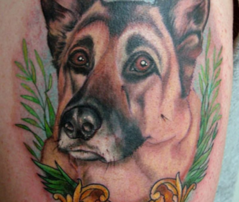 Doggy tattoo design