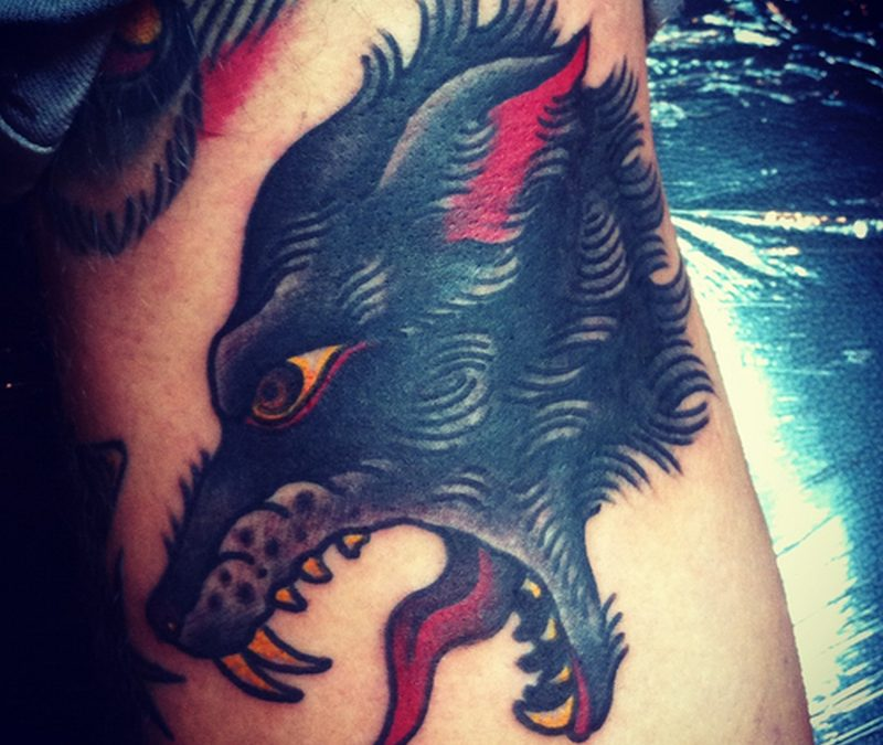 Dogs head tattoo