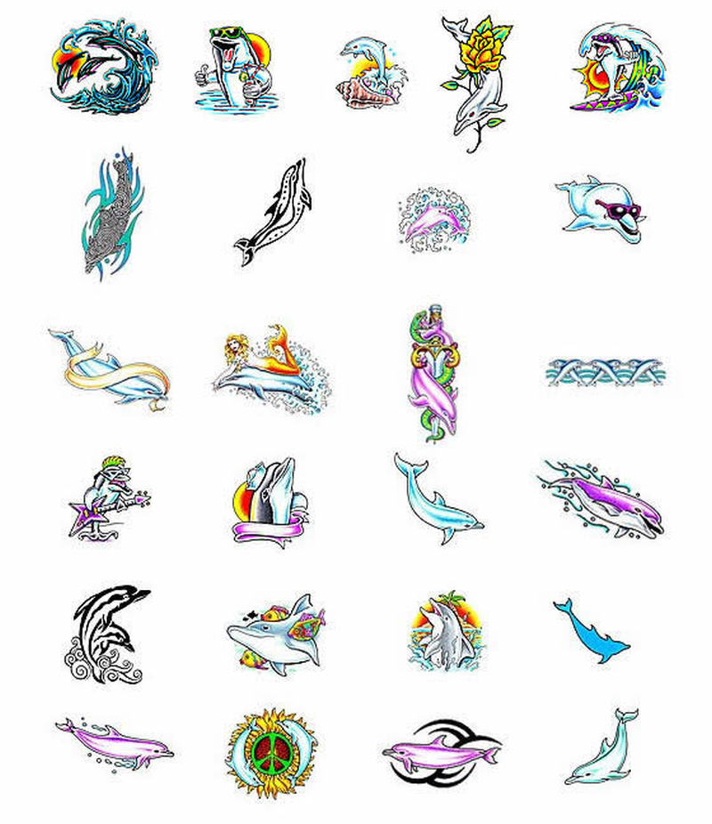Dolphin collection tattoo