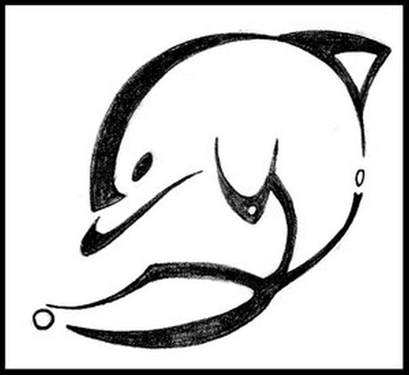 Dolphin tattoo sample