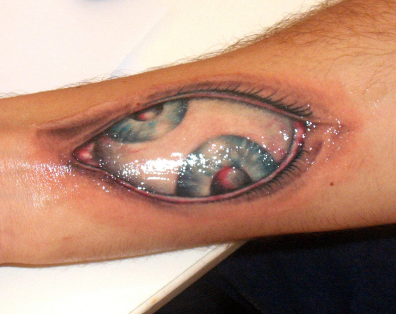 Double eye tattoo design