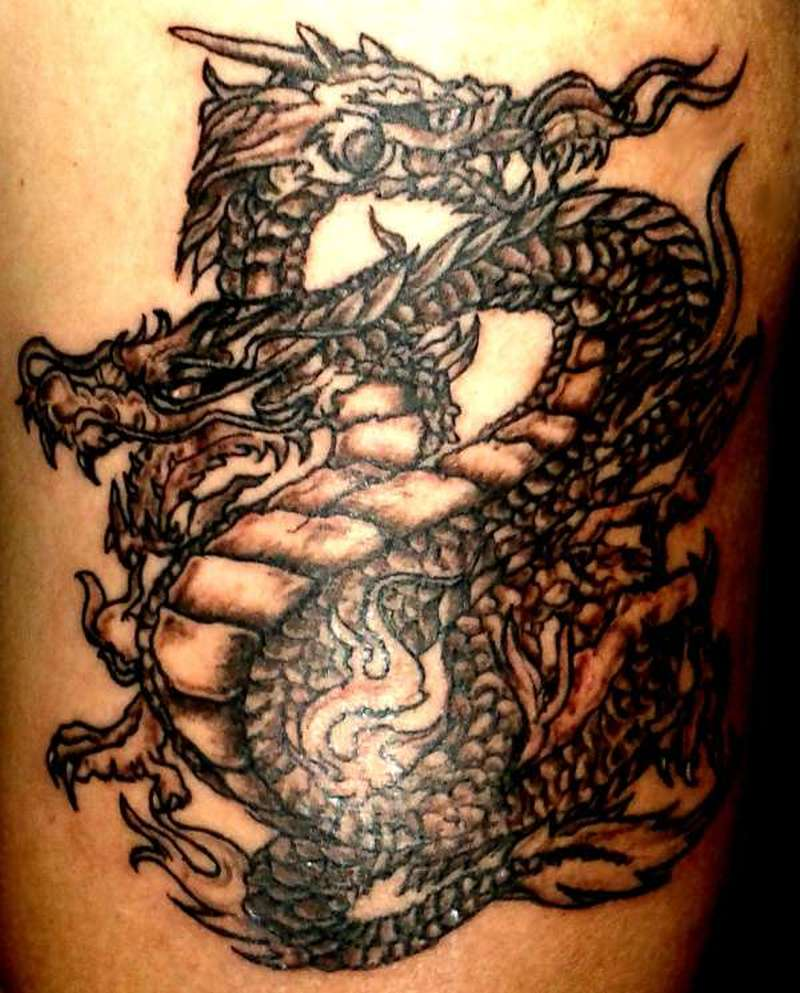 Double Headed Dragon Tattoo Designs