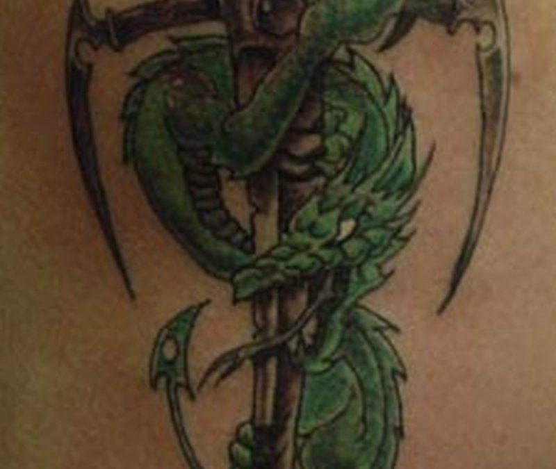 Dragon dagger sample tattoo