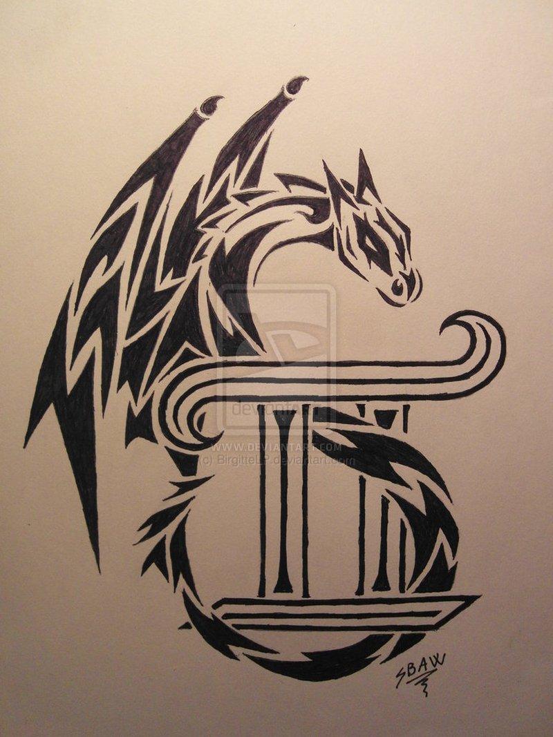 Dragon gemini tattoo poster