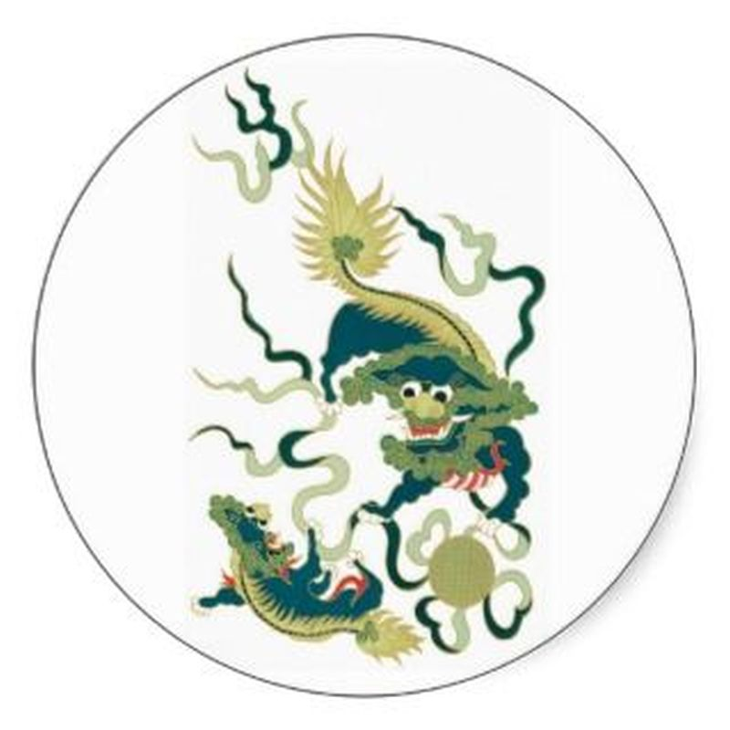 Dragon vintage asian tattoo art